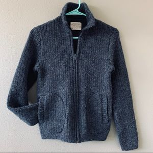 Pendleton Vintage Full Zip Wool Blue Cardigan SZ S